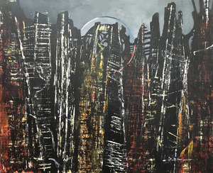 작품명:「Homage To Ernst 1」 작가명:「Potter」 코멘트:「Homage to Ernst 1 is an acrylic on canvas painting in the style of the great German artist Max Ernst.」 ART-Meter