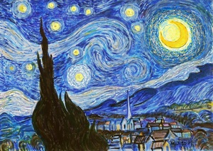 작품명:「The starry night」 작가명:「ToshiJapon」 코멘트:「The starry night」 ART-Meter