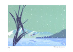 「February snow, freezing lake surfa(1/70)」