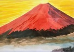 「The red Mount Fuji」
