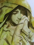 「Statue of Mary praying」