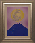 「Full moon and night Mt.Fuji」