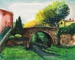 「the bridge in a small village」