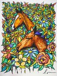 Flower and horse 001