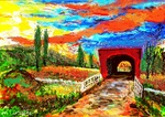 「Roseman Covered Bridge」