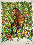 「Flower and horse 002」