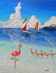 「Yacht & Lake &Flamingo」
