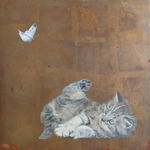 「Butterfly and Cat no,12」