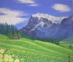 「swiss alps of flowers」