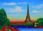 「Eiffel Tower 4 F with frame」