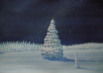 「Christmas tree made of rime」