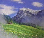 「swiss alps of flower」
