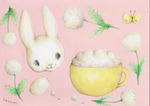 「Fluffy cafe au lait and rabbit」