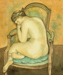 Nude woman (painting reproduction)