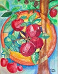 「Divine geometry with fruits 1」