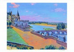 「Amboise castle and blue sky」
