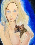 「Cat on shoulder」