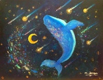 「Whale and meteor shower」