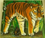 「Tiger in the bamboo bush」