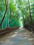 「Bamboo forest road」