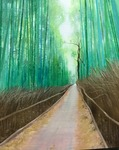 「Bamboo forest rood」