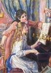 Renoir Two girls playing the piano