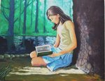 「Girl reading a book」